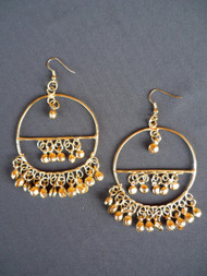 Circle with Bitty Bell Earrings