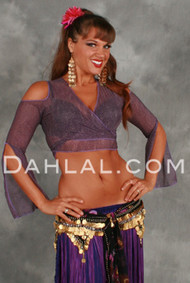 MERET Cold Shoulder Wrap Top from Off the Nile, for Belly Dance