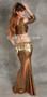 akhet holographic lycra mock wrap top rear and side view in copper