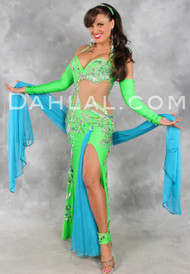 OPULENT TREASURES by Pharaonics of Egypt, Egyptian Belly Dance Costume Available for Custom Order