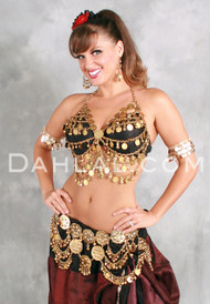 Ancient Reflections II Bra Cover with Coins