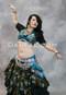 silver belly dance belt