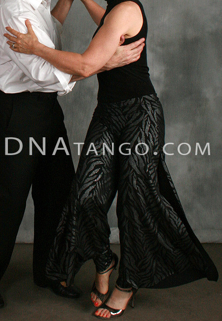 Silver on Black Tango pants