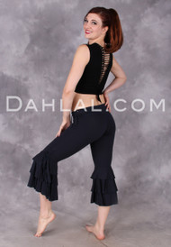 3 Tiered Ruffle Capri Pant from Queen of Hearts