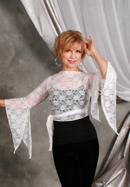 Tango Style SAQQARA Stretch Lace Wrap Top by Off The Nile