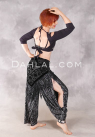 Black with Silver Pierna Pant