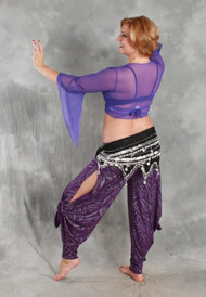Belly Dance Style PIERNA Babuchas Convertible Dance Pants by Dahlal USA in Assorted Knits