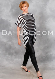 CORTINA Top in Black and White Stripes, Tango Wear Tunic