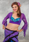 Purple Mesh Wrap Top For Belly Dance