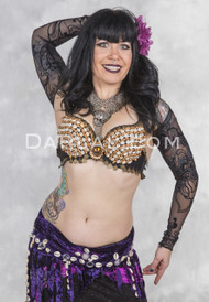 TRIBAL SHELL BRA for Belly Dancing