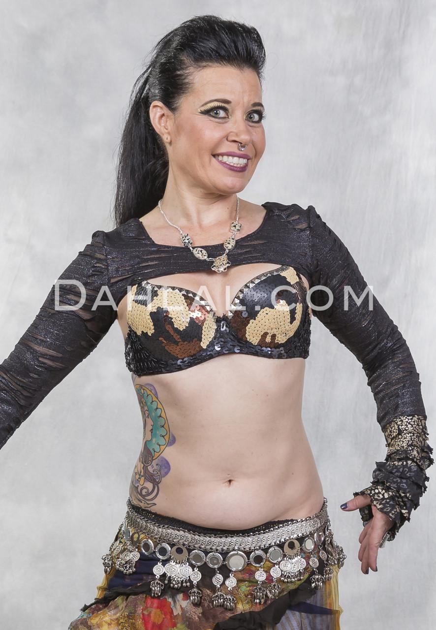 86d07d1fe SEQUIN CAMO BRA for Belly Dancing - Dahlal Internationale Store