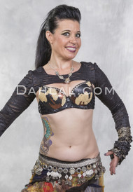 SEQUIN CAMO BRA for Belly Dancing