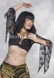lace wrap top for belly dance