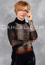 EMBUTIDO TOP in Leopard Print by Simon Chang, Tango Wear Long-Sleeve Top