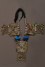 Tribal Belly Dance Square Pendant Necklace, option 2