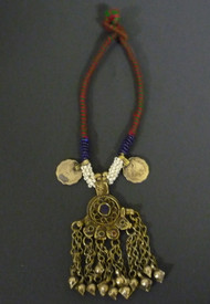 Afghani Necklace of Vintage Kuchi Pendants with Bells, option 4