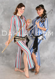AZIZA Saidi Dress in Vivid Stripes by Off the Nile