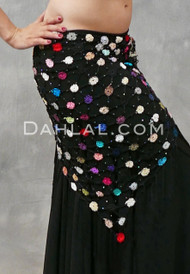 Multi-color Retro Crocheted Shawl
