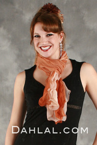 Tri-Color Watercolor Collage Scarf I in Orange, Peach and White