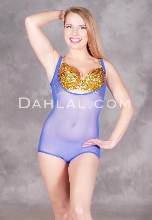 Royal Blue sleeveless body stocking
