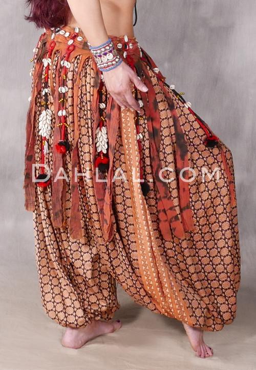 Tribal Fringe & Cowry Belt for tribal belly dance