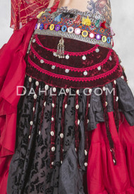 coin and cowry tribal belly dance belt