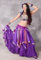 Sari Handkerchief Skirt Shown In Purple Smocking with Purple, Lavender and Silver Over A Tribal Essentials Skirt
