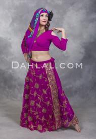 Wrap Skirt of Vintage Sari Fabrics