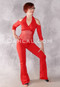 Red Alexandria Cold Shoulder Unitard