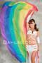 Rainbow Silk Veil for Belly Dance image