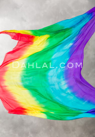 Rainbow Silk Veil for Belly Dance