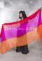 tri-color silk veil for bellydance