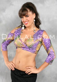AKHET Top in Wild Kingdom Print, by Off the Nile, Belly Dance Wear