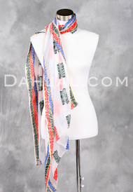Rayon Multi-Colored Jacquard Stripe Scarf