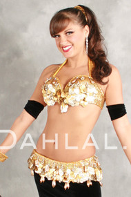 VINTAGE VISION by Pharaonics of Egypt, Egyptian Belly Dance Costume, Available for Custom Order image