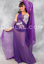 POETIC PROMISE II  by Designer Eman Zaki, Egyptian Belly Dance Costume Available for Custom Order