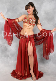 EXALTATION by Designer Eman Zaki, Egyptian Belly Dance Costume Available for Custom Order