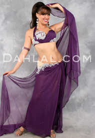 GLITTER GODDESS, by Designer Eman Zaki, Egyptian Belly Dance Costume Available for Custom Order