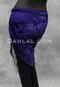 Purple Burnout Velvet Shawl