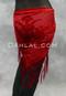 Red Burnout Velvet Shawl