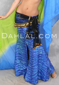 SOBEK Holographic Animal Print Lycra Mermaid Skirt by Off The Nile