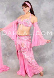 MOORISH PRINCESS in Pink with Silver by Pharaonics of Egypt, Egyptian Belly Dance Costume