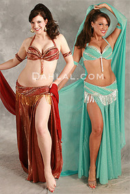 GLIMMERING REFRAIN by Hoda Zaki, Egyptian Belly Dance Costume Available for Custom Order