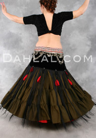 Tribal Fringe and Tassel Belt in Size Small, Option #2, for Belly Dance