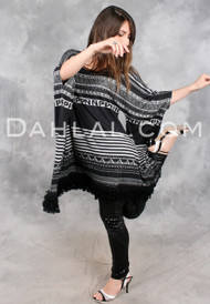 FRINGED FONT Alphabet Poncho Dress/Tunic from Simon Chang
