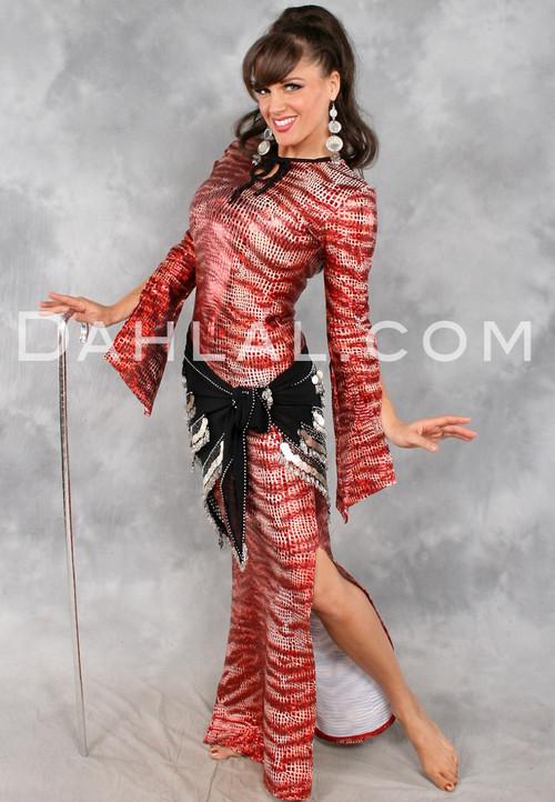 Limited Edition Tiger Print Aziza Saidi Dress by Off The Nile
