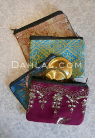 Vintage Sari Zill Bag with a Zipper