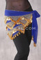 Royal Blue with Gold Beads and Coins