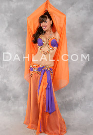LEGEND OF THE NILE by Designer Eman Zaki, Egyptian Belly Dance Costume Available for Custom Order