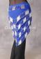 Royal Blue and Silver Multi-Row Beaded Triangular Hip Scarf